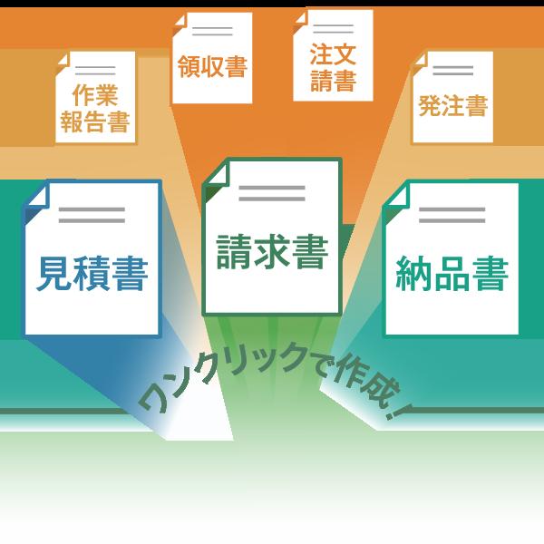 見積書・請求書・納品書をワンクリックで作成!シンプル&直感的なインターフェイスで、あらゆる書類作成を簡単に。